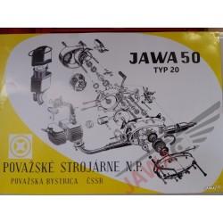 Plakát JAWA 50