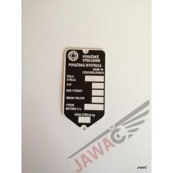 Štítek výrobní TATRAN 125
