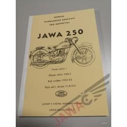 JAWA 250 PÉRÁK 1951-1952...