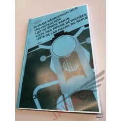 JAWA 634 Katalog náhradních...